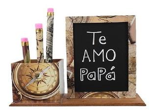 Set De Escritorio Te Amo Papá,decoración