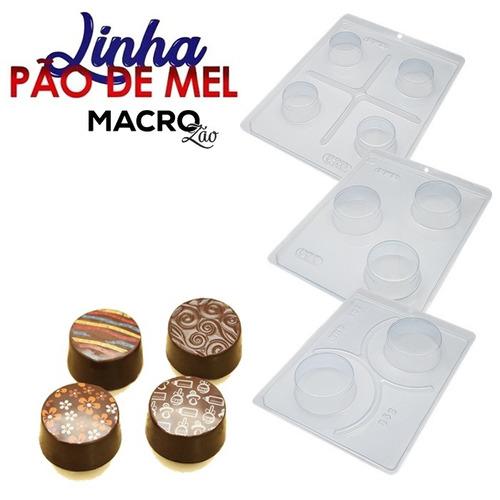 3 Forma Pão De Mel Silicone Bwb Chocolate