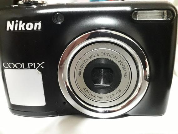 Câmera Digital Nikon Coolpix L23 Preta 12mp Lcd 2,7