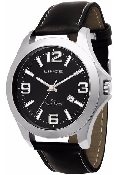 Relógio Lince Masculino Pulseira De Couro Mrc4109s P2px