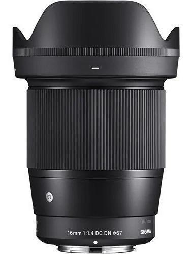 Imagem 1 de 2 de Lente Sigma 16mm F/1.4 Dc Dn Para Sony