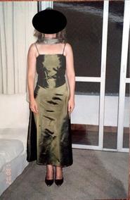 Vestido Verde De Festa Em Tafetá De Alcinha
