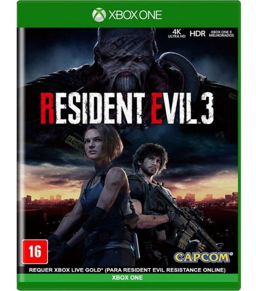 Jogo Novo Midia Fisica Resident Evil 3 Remake Para Xbox One