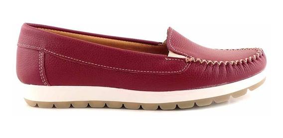Mocasin Mujer Cuero Briganti Zapato Goma Confort Mcmo03632