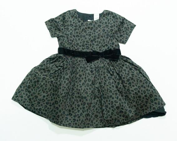 Vestido Carters Preto - Estampa Oncinha - Festa