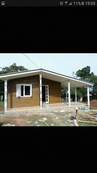 Casa De Eucalipto 6 X7 Banheiro 2x1.5 Com Ceramica Ate O Tet