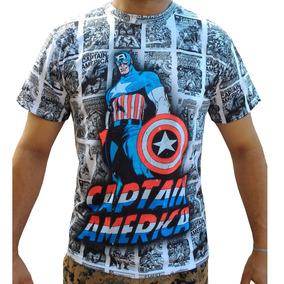 Camiseta Camisa Blusa Capitão América Quadrinho Marvel Comic