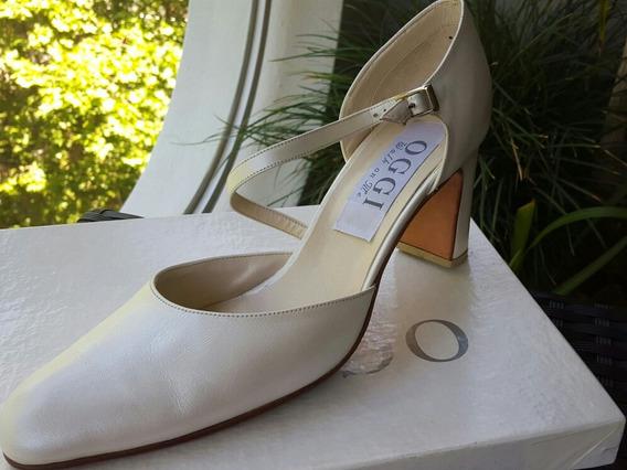 Zapatos Para Fiesta Casamiento/ 15 Años Oggi Cuero 39