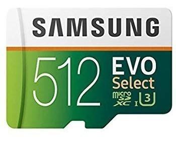 Samsung 512gb 100mb/s (u3) Microsd Evo Select Memory Card