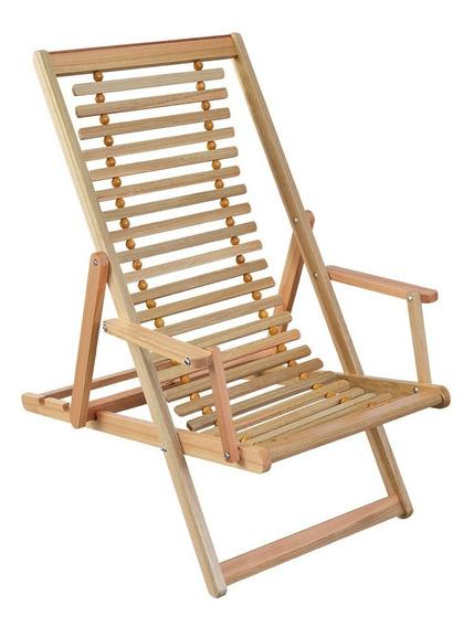 Cadeira Espreguiçadeira Dobrável 3 Regulagens