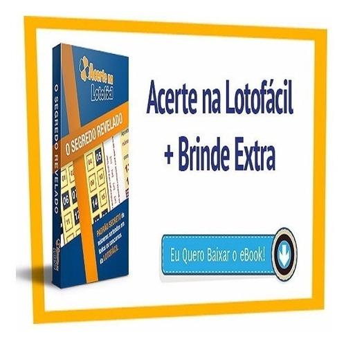 livro lotofacil o segredo revelado