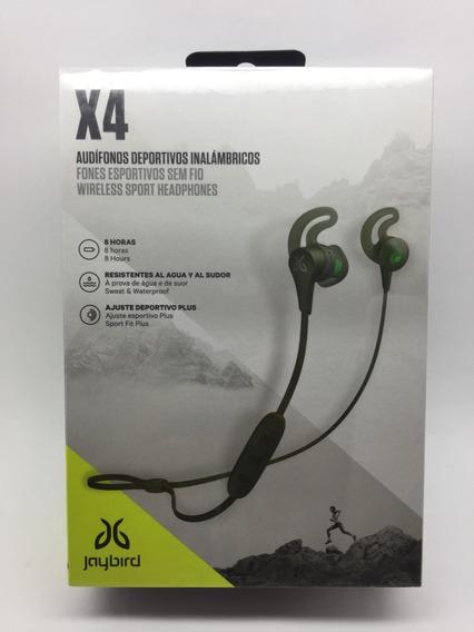 Fone De Ouvido Bluetooth C/ Microfone Jaybird X4 Verde Nf-e