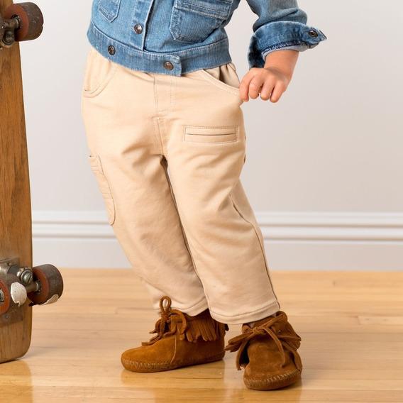 Pantalón Beige Algodón Bebé Niño Premium 2 3 4 5 Años