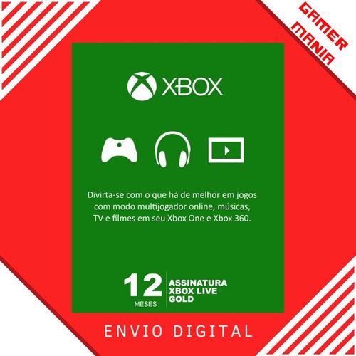 Xbox Live Gold 12 Meses Código Digital Oficial Brasil