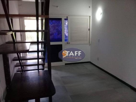 Apartamento Duplex Com 01 Dormitório + Mezanino Para Locação Fixa, 55 M² - Bairro Portinho - Cabo Frio/rj - Ad0009