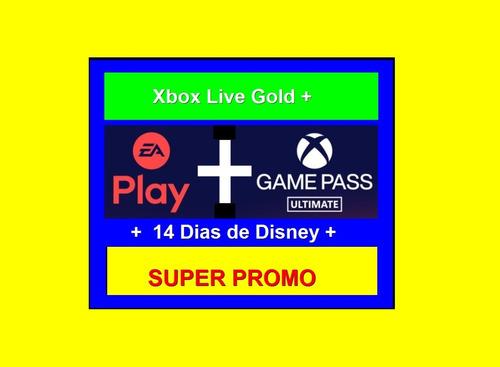 Xbox Live Gold 30dias Xbox1+game-pass+ea-play+14dias-disney+