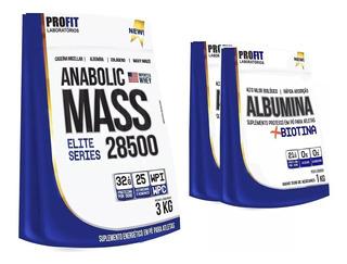 Hipercalórico Anabolic Mass 28500 3kg + 2x Albumina 1kg
