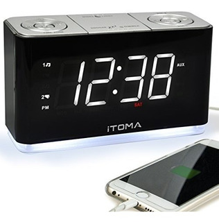 Itoma Reloj Despertador Radio Digital Fm Radio