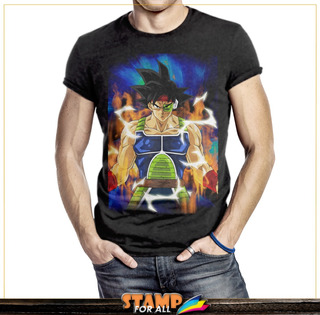 Camiseta Dragon Ball Z Super Bardock Sayajin Stamp For All