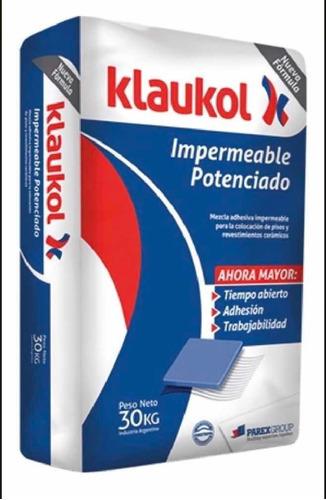 Pegamento Impermeable Klaukol Potenciando P/ Cerámica 30kg