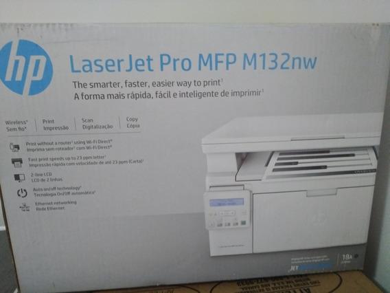 Impressora Hp Mfp M132nw (pouco Usada) Conexão Rj45 E Usb
