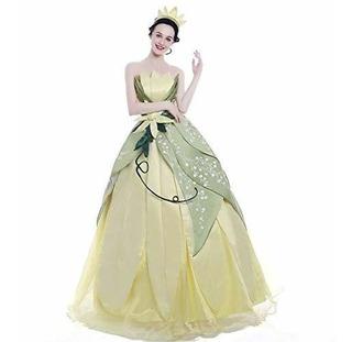 icos Mano Muchacha Costura Princesa Vestido Tiana Bordado