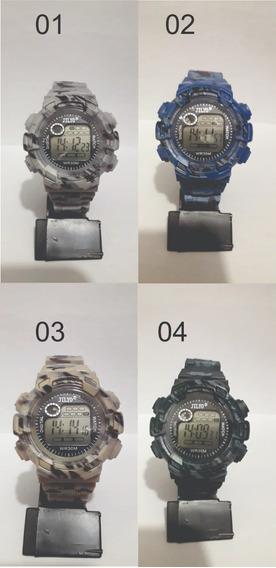 Relógio Masculino Jilyo Digital - Bege Camuflado