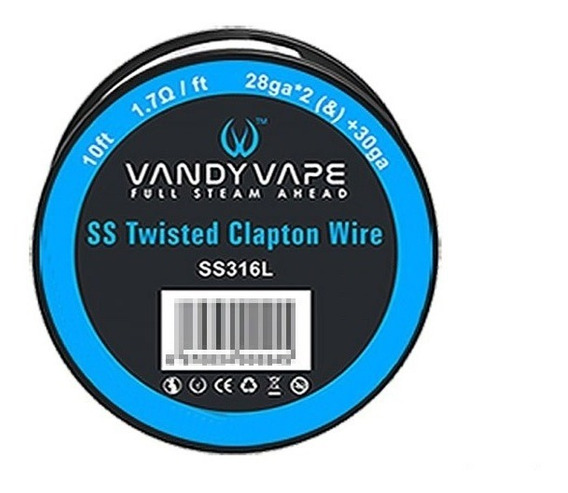Fio Para Resistência/coil Ss316l -vaper- Twisted Clapton 3m