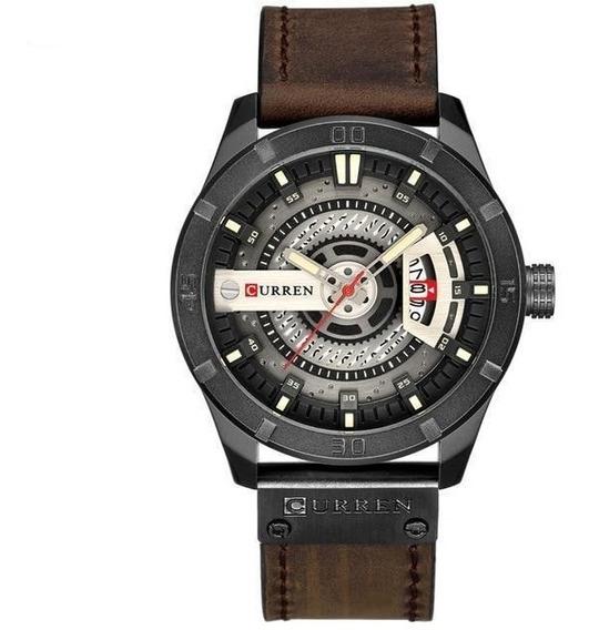 Relógio Masculino Curren Original Couro + Envio 24hrs