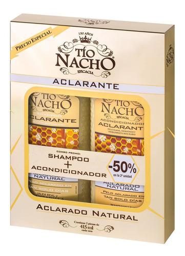 Imagen 1 de 1 de Shampoo Tio Nacho  415 Aclaran+enjuague