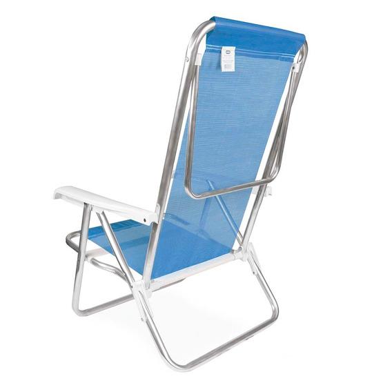Cadeira Alumínio Reclinável 8 Posições Praia Piscina Sannet
