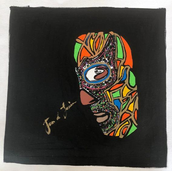 Cuadro, Arte Mexicano De Juan Lascurain ¨lucha Libre¨