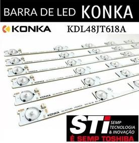 Kit 6 Barras De Led Semp Toshiba 48l2400 48l5400 Dl4844