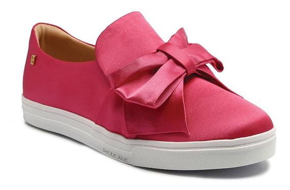Tênis Petite Jolie Cetim Pink Pj2703
