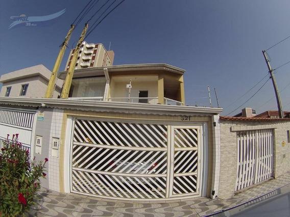 Sobrado Com 4 Dormitórios À Venda, 220 M² Por R$ 550.000 - Campo Da Aviação - Praia Grande/sp - So0611