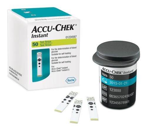 Tirillas Accu Chek Instant Caja Por 50 + 25 Lancetas