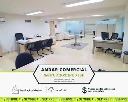 Imagem 1 de 17 de Andar/loja Para Alugar, 310 M² - Santo Agostinho - Belo Horizonte/mg - Ac0090
