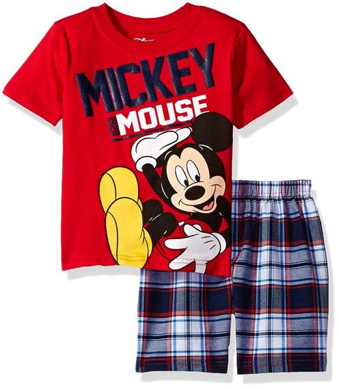 Camiseta Short Cuadrado Niños Mickey Mouse Disney