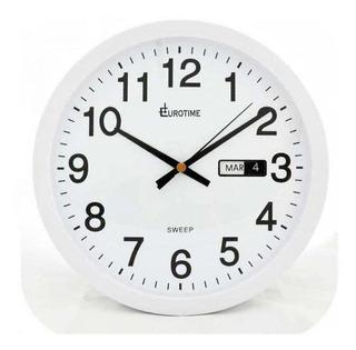 Reloj De Pared Eurotime 27611.01 Blanco