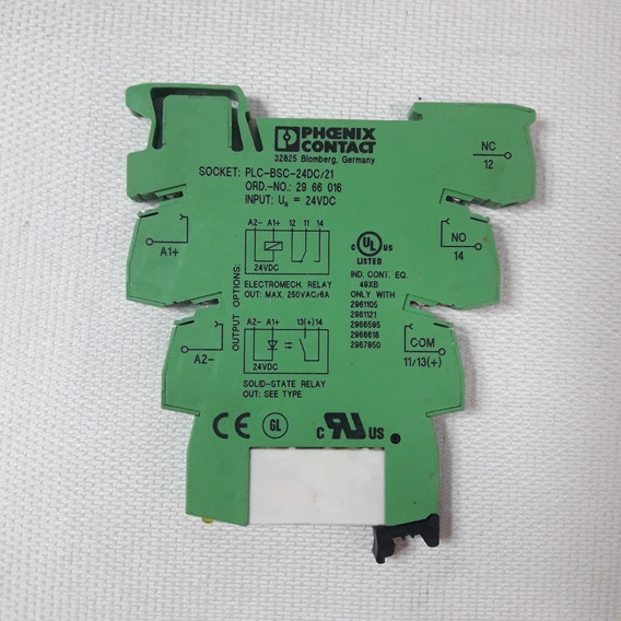 Kit 4 Rele 24v Phoenix Contact Plc-bsc-24dc/21