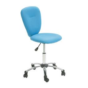 Cadeira De Escritorio Giratória Panduit C/ Pistão À Gás Azul