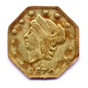 E U A - Corrida Do Ouro Da Califórnia - 1/4 Dollar 1870 C Au