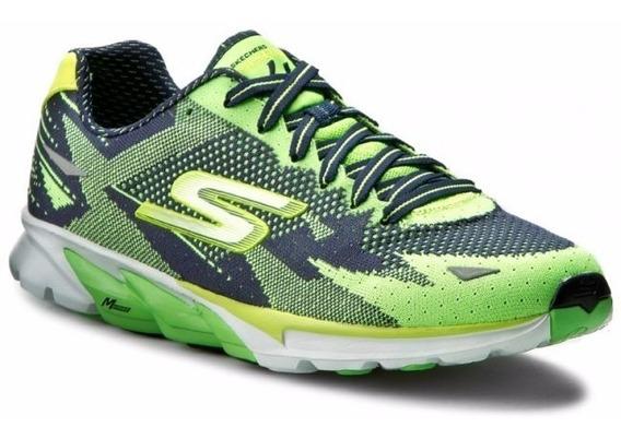 Zapatillas Skechers Running Go Run 4 Hombre Verde C/azul