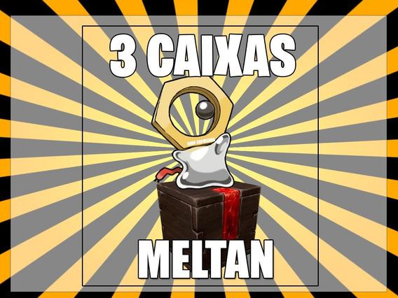 3 Caixas De Meltan - Pokemon Go / Pokemon Mítico Raro
