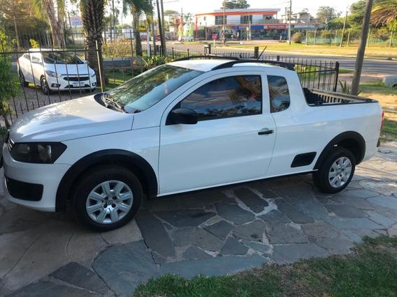 Volkswagen Saveiro, Blanca, 1.6 Cabina Extendida. Año 2014.