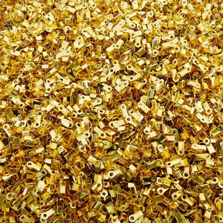 Atacado - Terminal P/ Bijuterias- Dourado- 3mm X 3mm- 100pçs