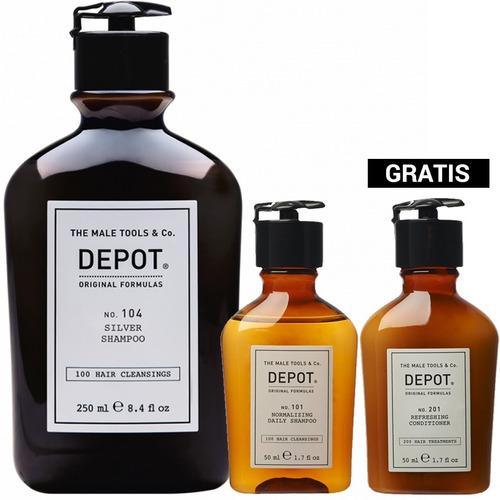 Pack Depot Shampoo 104 Silver Canas Shampoo + Acondicionador