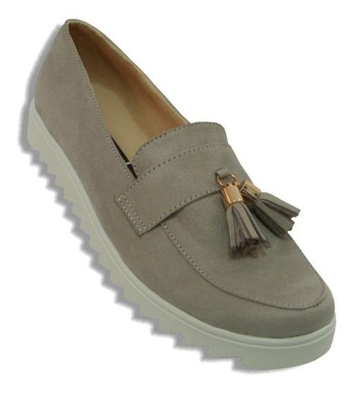 Zapato Antifaz Campana Cómodo Gris Vintage Plataforma