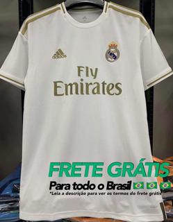 Camisa Real Madrid 2019/20 Dourada Novo - Personalizável