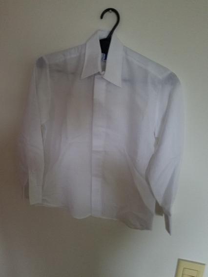 Camisa Blanca - Talle 10 - Manga Larga